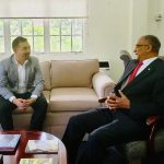 NCBGF CEO Angus Young meets with Jamaica High Commissioner to Trinidad & Tobago, H.E. Arthur H.W. Williams.