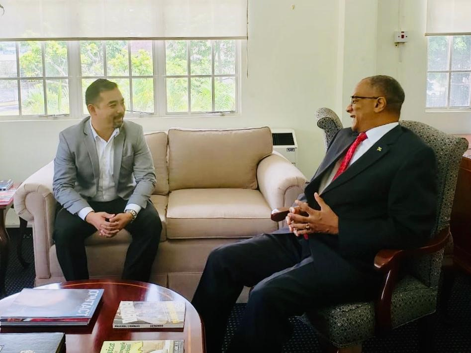 NCBGF CEO Angus Young meets with Jamaica High Commissioner to T&T H.E. Arthur H.W. Williams.